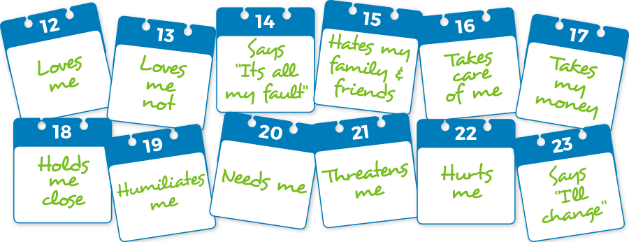 Domestic Abuse calendar graphuc